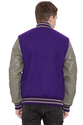 Purple Grey Varsity Jacket