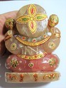 Gemstone Ganesha Indian God Statue Stone Idol
