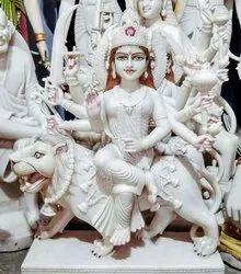 Goddess White Durga Statue