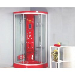 Verna Red Corner Shower Cabin