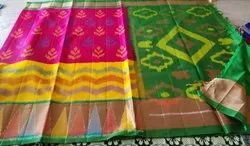 6.3 m (with blouse piece) Festive Wear Pochampally Ikkat Sarees
