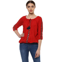 Ladies Red Casual Top