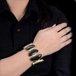 Party Wear Women Handmade Onyx Bracelet