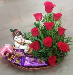 Chocolate Gifts Items With Roses