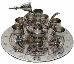 Nirmala Handicrafts Brass Wine Set Decorative Plate And Gift Item