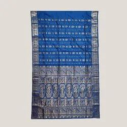 Peacock Blue Swarnachari Saree