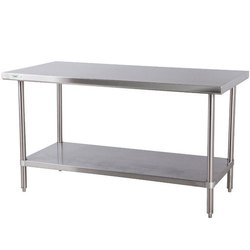 Ss 304 Polished Stainless Steel Table, For Restaurant