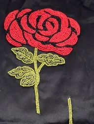 Rose Beaded Patch