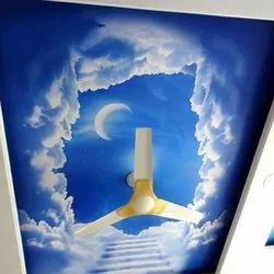 FRP Blue Printed False Ceiling, for Office, Thickness: 6.5 Mm