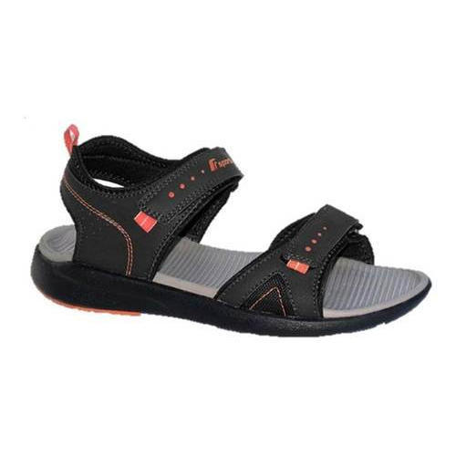 27763aba0 F Sports Black Orange Men Flat Sandals Size 7 10 Uk Rs 1095