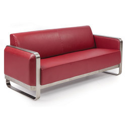 Red Three Seater Sofa