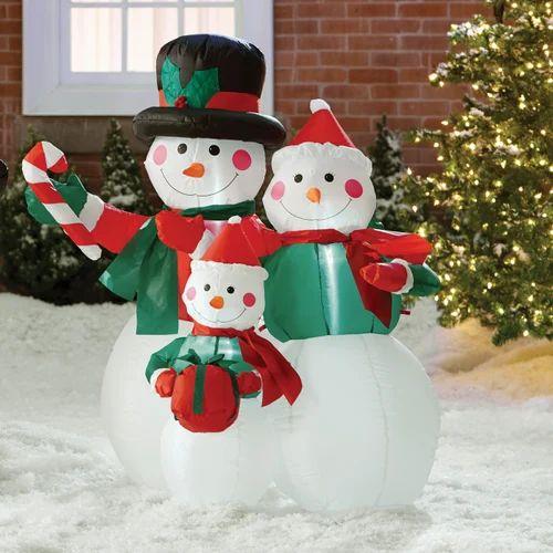 Multicolor Inflatable Santa Claus