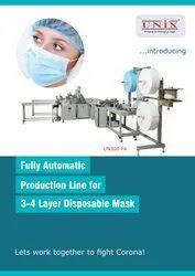 3-4 Ply Fully Automatic Mask Making Machine