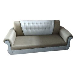 3 Seater Grey Designer Leather Sofa, for Home
