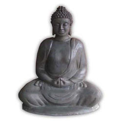 KNT Creations Dark Grey Buddha Statue