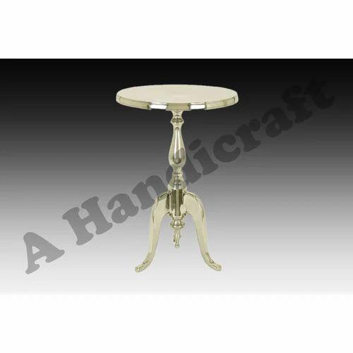 Round Brass Center Table