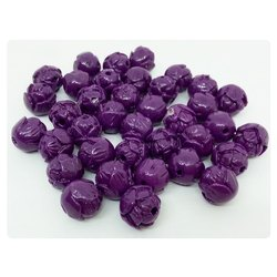 Dark Violet Rose Bud Synthetic Coral Beads