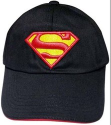 Black Superman Cotton Baseball Cap