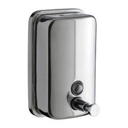 HORSEWAY Silver Stainless Steel Soap Dispenser - 800 ML, Dimension/Size: 800ml and 1000ml