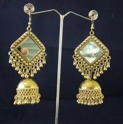 f3847048c Female NK Handmade Chokor Jhumki Golden