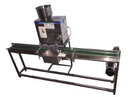 Camphor Weighing & Cup Filling Machine
