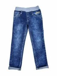 Denim Regular Fit Chopper Club Boys Elastic Waist Jeans