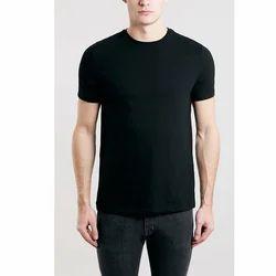 Black Cotton Men's Casual T-Shirt