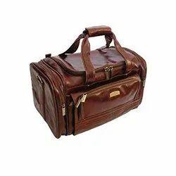 Brown Leather Luggage Bag