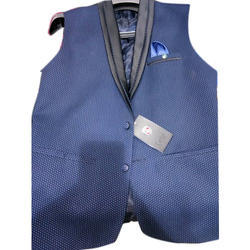 Mens Cotton Party Wear Waistcoat, Size: S to XLL