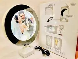 Plastic Table Top Personalized Magic Mirror Photo Frame, Packaging Type: Box
