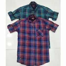 Trap Cotton Mens Casual Check Shirt, Packaging Type: Box