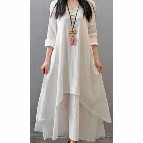 cba6d5371c5d Tara White Stylish Cotton Kurti, Rs 290 /piece, Tara Fashions | ID ...