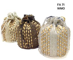Handmade Stylish Beaded Embroidered Potli Bag FA 71