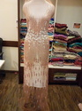 "58"" Net Long Evening Dress"