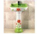 Green Pedestal Wash Basin