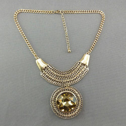 Trendy gold plated Western short Necklace 73117