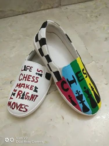 Hand Painyed Canvas Shoes