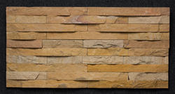 Teak Tumbled Pattern Wall Cladding