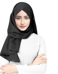 Viscose Rayon Soft Cotton Plain Scarf Hijab For Women