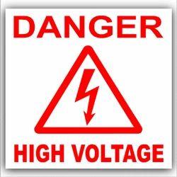Aluminium Danger Sign Stickers, For Panel Board