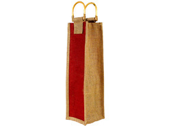 Two Side Dyed Jute Bottle Bag