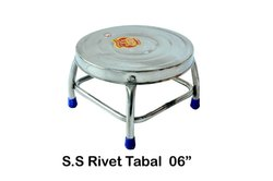 Polished S.s rivet table, Size: 6