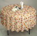 Airwill Multicolor Round Table Cloth, Size: 140 X 140 Cm