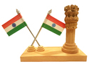 Wood En Ashoka Pillar Flag, Size/dimension: 4 Inchs