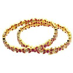 Design Ruby And Real Diamonds Bangles