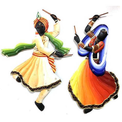 Dandiya Couple Wall Hanging Iron Handicrafts