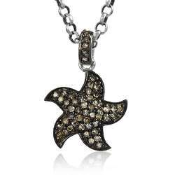 Fantasy 925 Sterling Silver Diamond Pendant