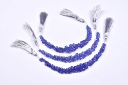 Natural Rare Aaa Quality Tanzanite Faceted Teardrops Shape Gemstones Beads