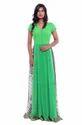 Western Georgette Green Evening Gown