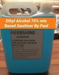 Sanitiser With Ethyl Alcohol